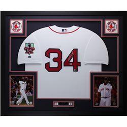 "David Ortiz Signed Red Sox 35"" x 43"" Custom Framed Jersey (MLB  Fanatics)"