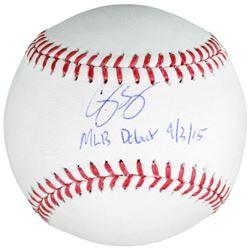 """Corey Seager Signed Baseball Inscribed """"MLB Debut 9/3/15"""" (Fanatics  MLB)"""