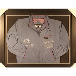 """Ray Liotta  Henry Hill Dual-Signed 27x33 Custom Framed Member's Only Jacket Display Inscribed """"Henry"""