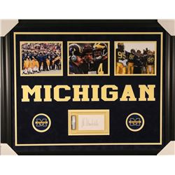 Bo Schembechler Signed Michigan Wolverines 27x33 Custom Framed Index Card Display (PSA Encapsulated)