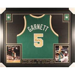 Kevin Garnett Signed Celtics 35x43 Custom Framed Jersey (PSA COA)