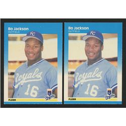 Lot of (2) 1987 Fleer #369 Bo Jackson RC