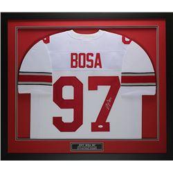 Joey Bosa Signed Ohio State Buckeyes 32x37 Custom Framed Jersey (JSA COA)