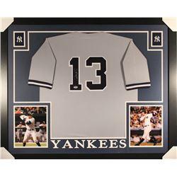 Alex Rodriguez Signed Yankees 36x44 Custom Framed Jersey (PSA COA)