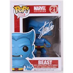 """Stan Lee Signed """"Beast"""" Marvel POP! Vinyl Figure (Lee Hologram  Radtke COA)"""