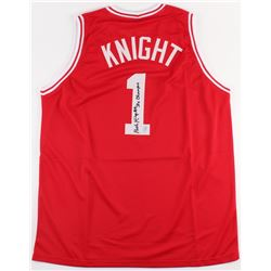 """Bobby Knight Signed Indiana Hoosiers Jersey Inscribed """"3x Champs"""" (Steiner COA)"""