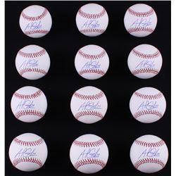 Lot of (12) Andrew Cashner Signed OML Baseballs (LOJO COA)