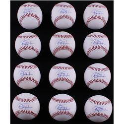 Lot of (12) Jose Peraza Signed OML Baseballs (LOJO COA)