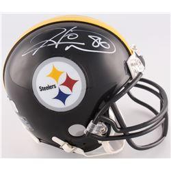 Hines Ward Signed Steelers Mini-Helmet (Radtke COA)
