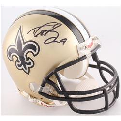 Drew Brees Signed Saints Mini-Helmet (Brees Hologram)