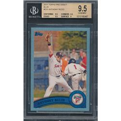 2011 Topps Pro Debut Blue #233 Anthony Rizzo #078/309 (BGS 9.5)