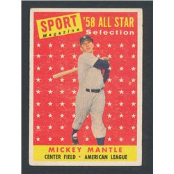 1958 Topps #487 Mickey Mantle AS TP