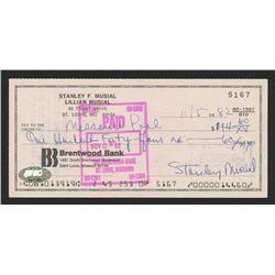 Stan Musial Signed Original Check (FSC COA)