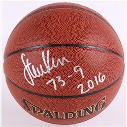 """Steve Kerr Signed Spalding Basketball """"73-9 2016"""" (Schwartz COA)"""