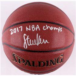 "Steve Kerr Signed Spalding Basketball ""2017 NBA Champs"" (Schwartz COA)"