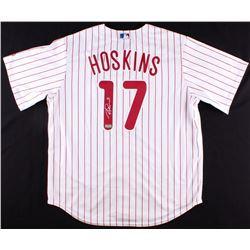 Rhys Hoskins Signed Phillies Jersey (Radtke COA)