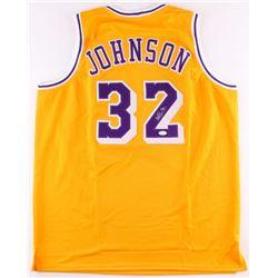 Magic Johnson Signed Lakers Jersey (JSA COA)