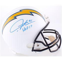 "LaDainian Tomlinson Signed Chargers Full-Size Helmet Inscribed ""HOF 17"" (Tomlinson Hologram)"