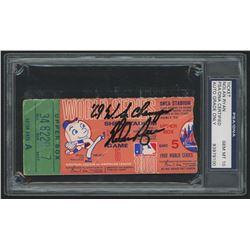 "Nolan Ryan Signed 1969 World Series Ticket Stub Inscribed ""'69 WS Champs"" (PSA 10)"