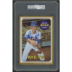 Nolan Ryan Signed 2015 Topps Cardboard Icons #533 5x7 Jumbo Baseball Card (PSA Authentic)