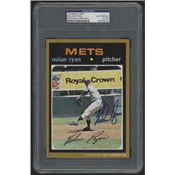 Nolan Ryan Signed 2015 Topps Cardboard Icons #513 5x7 Jumbo Baseball Card (PSA Authentic)
