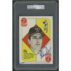 Nolan Ryan Signed 2015 Topps Cardboard Icons #2 5x7 Jumbo Baseball Card (PSA Authentic)