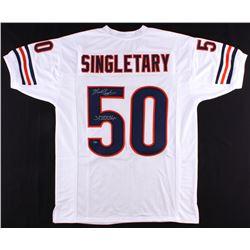 "Mike Singletary Signed Bears Jersey Inscribed ""SB XX Champs"" (Schwartz COA)"