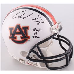 Chris Davis Jr. Signed Auburn Mini-Helmet Inscribed  Got A Sec  (Radtke COA)