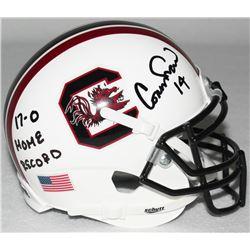 "Connor Shaw Signed South Carolina Mini-Helmet Inscribed ""17-0 Home Record"" (Radtke COA)"
