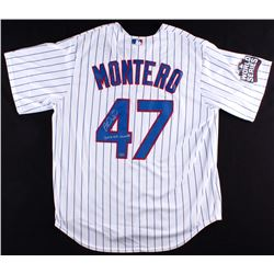 """Miguel Montero Signed Cubs 2016 World Series Jersey Inscribed """"2016 WS Champs"""" (Schwartz COA)"""