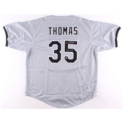 Frank Thomas Signed White Sox Jersey Inscribed  HOF 2014  (Schwartz COA)