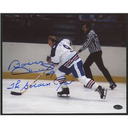 Bobby Hull Signed Rangers 8x10 Photo Inscribed  The Golden Jet  (Schwartz COA)