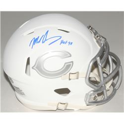 Mike Singletary Signed Bears Custom Matte White ICE Speed Mini Helmet (Schwartz COA)