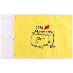 Jack Nicklaus Signed 2014 Masters Pin Flag (JSA ALOA)