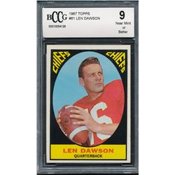 1967 Topps #61 Len Dawson (BCCG 9)