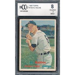1957 Topps #125 Al Kaline (BCCG 8)