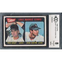1965 Topps #477 Rookie Stars Fritz Ackley / Steve Carlton RC (BCCG 8)