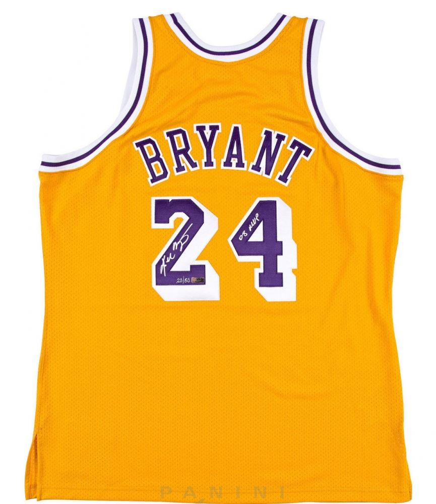 buy popular b1651 ebb06 Kobe Bryant Signed Limited Edition Lakers Jersey Inscribed ...
