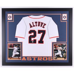e4e4eb93de4 Jose Altuve Signed Astros 35x43 Custom Framed Jersey (JSA COA)