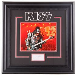 Gene Simmons Signed KISS 20x20 Custom Framed Cut Display (JSA COA)