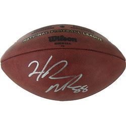 "Hakeem Nicks Signed NFL ""The Duke"" Football (Steiner COA)"