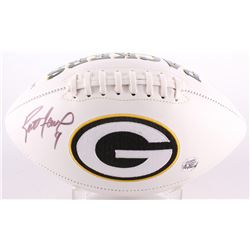 Brett Favre Signed Packers Logo Football (Favre COA)