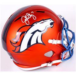 John Elway Signed Broncos Full-Size Blaze Speed Helmet (Elway Hologram)