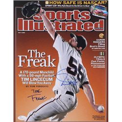 "Tim Lincecum Signed Sports Illustrated 11x14 Photo Inscribed ""The Freak"" (JSA COA)"