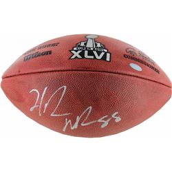 Hakeem Nicks Signed Super Bowl XLVI Football (Steiner COA)