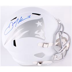 Julian Edelman Signed Patriots Full-Size White ICE Speed Helmet (JSA COA)