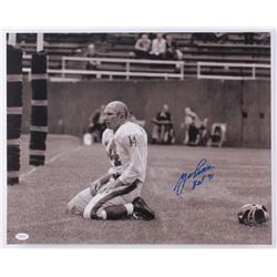 "Y.A. Tittle Signed 49ers 16x20 Photo Inscribed ""HOF 71"" (JSA COA)"