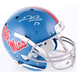Evan Engram Signed Ole Miss Rebels Full-Size Helmet (Radtke Hologram)