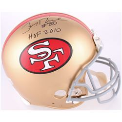 "Jerry Rice Signed 49ers Throwback Full-Size Helmet Inscribed ""HOF 2010"" (Radtke COA)"