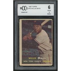 1957 Topps #10 Willie Mays (BCCG 6)